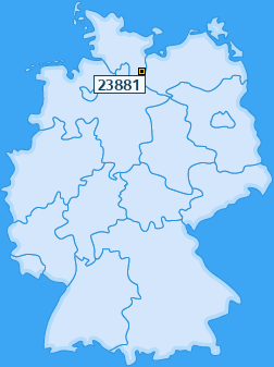 PLZ 23881 Deutschland