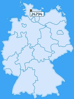 PLZ 24794 Deutschland