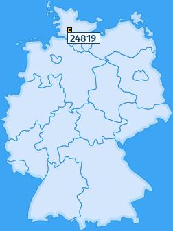 PLZ 24819 Deutschland