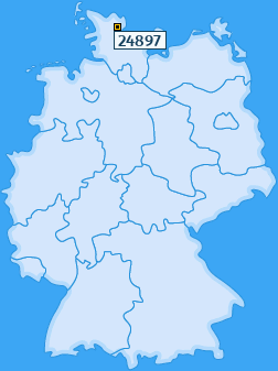 PLZ 24897 Deutschland