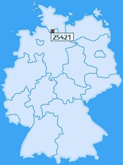 PLZ 25421 Deutschland