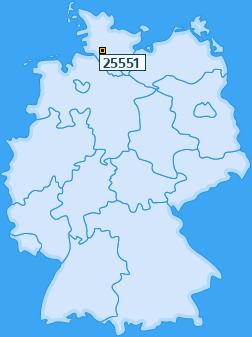 PLZ 25551 Deutschland
