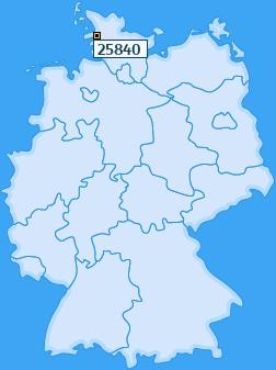 PLZ 25840 Deutschland