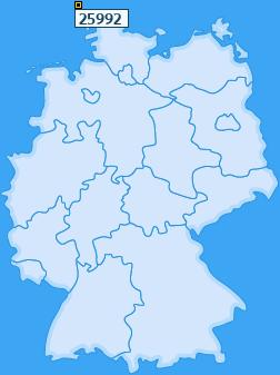 PLZ 25992 Deutschland