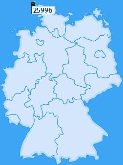 PLZ 25996 Deutschland