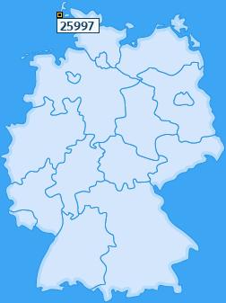 PLZ 25997 Deutschland