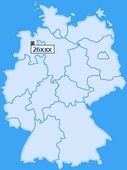 PLZ 26 Deutschland
