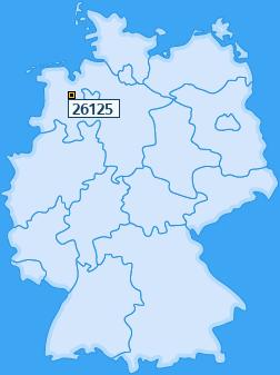 PLZ 26125 Deutschland