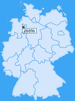 PLZ 28816 Deutschland
