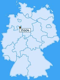 PLZ 31604 Deutschland