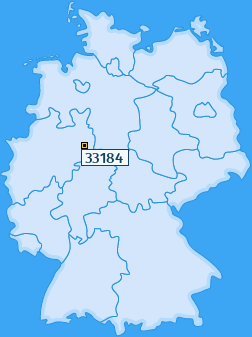 PLZ 33184 Deutschland