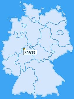 PLZ 34513 Deutschland
