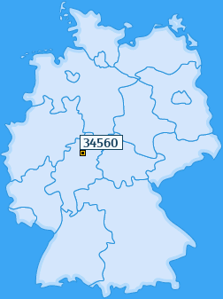 PLZ 34560 Deutschland