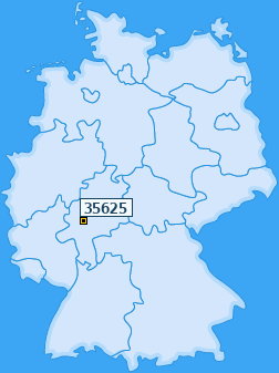 PLZ 35625 Deutschland