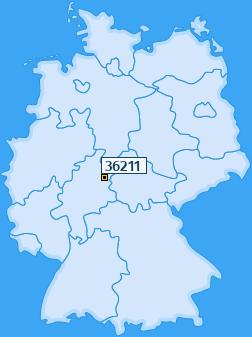 PLZ 36211 Deutschland