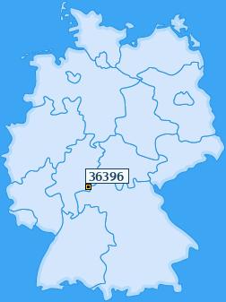 PLZ 36396 Deutschland