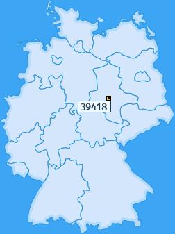 PLZ 39418 Deutschland