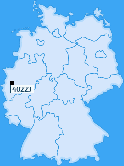 PLZ 40223 Deutschland