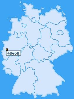 PLZ 40468 Deutschland
