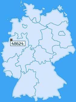 PLZ 48624 Deutschland
