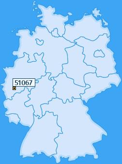 PLZ 51067 Deutschland