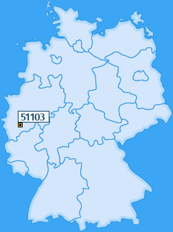 PLZ 51103 Deutschland