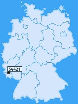 PLZ 54421 Deutschland