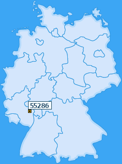 PLZ 55286 Deutschland