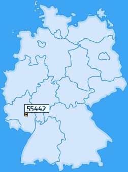 PLZ 55442 Deutschland