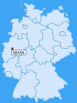 PLZ 58454 Deutschland