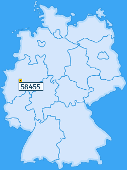 PLZ 58455 Deutschland