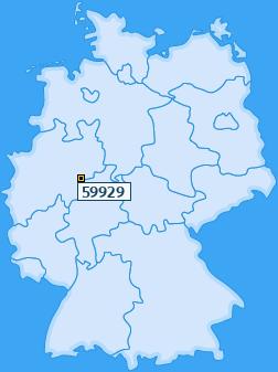 PLZ 59929 Deutschland