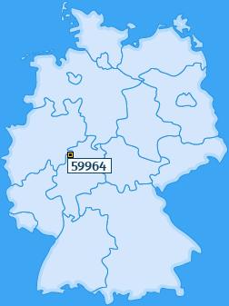 PLZ 59964 Deutschland