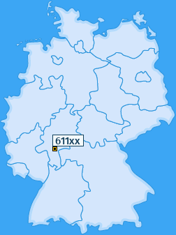 PLZ 611 Deutschland