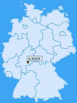 PLZ 63688 Deutschland
