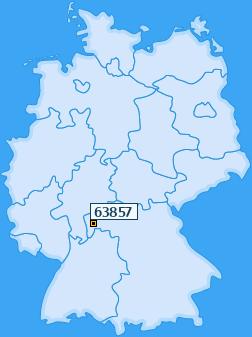 PLZ 63857 Deutschland