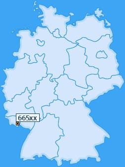 PLZ 665 Deutschland