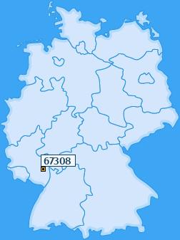 PLZ 67308 Deutschland