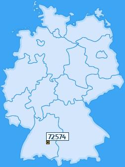 PLZ 72574 Deutschland