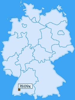 PLZ 7809 Deutschland