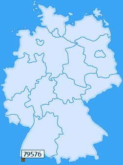 PLZ 79576 Deutschland