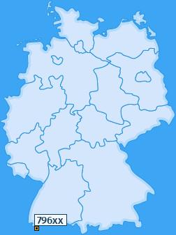 PLZ 796 Deutschland