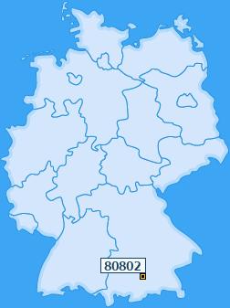 PLZ 80802 Deutschland