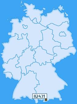PLZ 82431 Deutschland