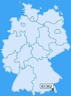 PLZ 83362 Deutschland
