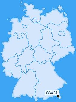 PLZ 83451 Deutschland
