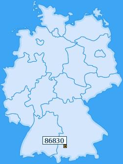 PLZ 86830 Deutschland