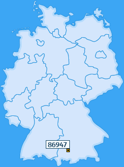 PLZ 86947 Deutschland