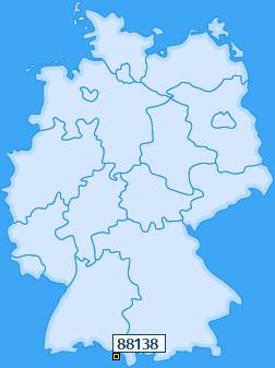 PLZ 88138 Deutschland