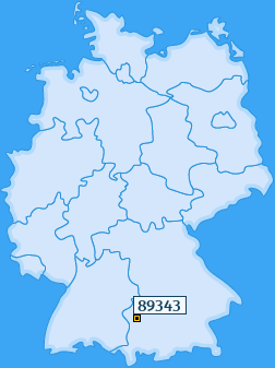 PLZ 89343 Deutschland